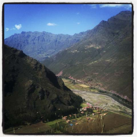 View of Pisac in Peru's Sacred Valley.