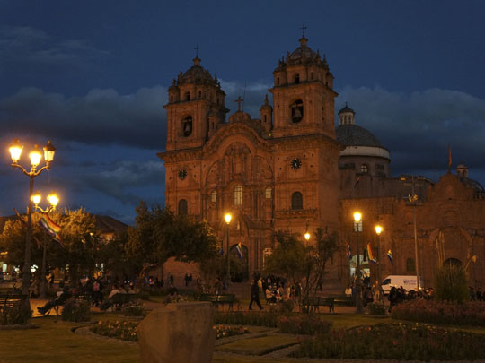 Cusco by night.