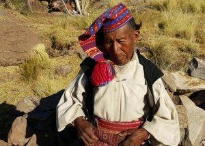 Man on Taquile Island on Lake Titicaca